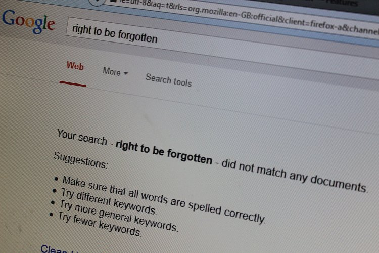 Is there a right to be forgotten? As a search engine when do I have to remove listings?